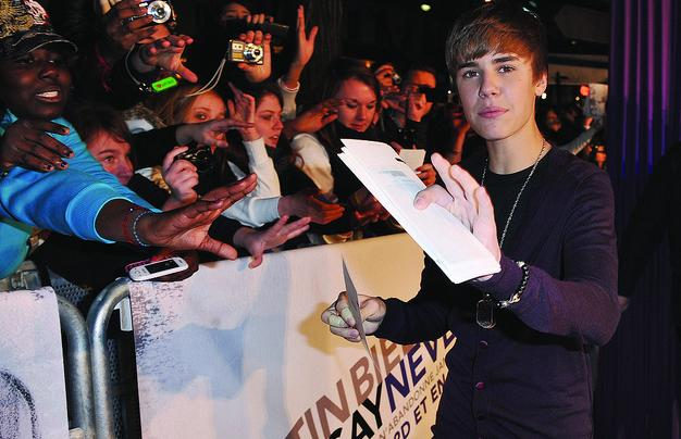 "Justin Bieber at the Paris, France ""Never Say Never"" movie premiere"
