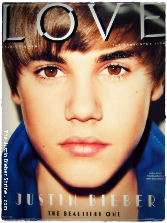 Justin Bieber LOVE Magazine photoshoot