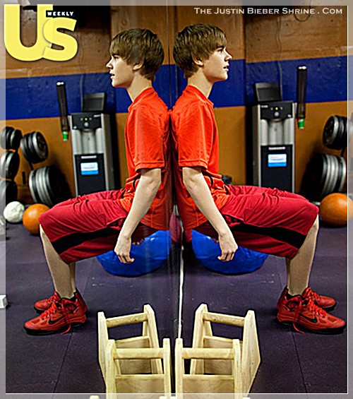 justinbiebermusclesworkingout 08 Justin Bieber muscle building work out pictures UsMagazine 2011