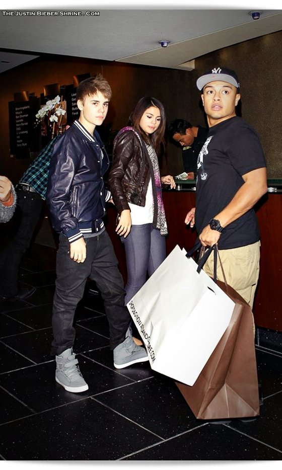 selenagomez justinbieber birthday 2011 04 Justin Bieber spent 17th birthday with Selena Gomez at Beverly Center Mall March 1, 2011 2011