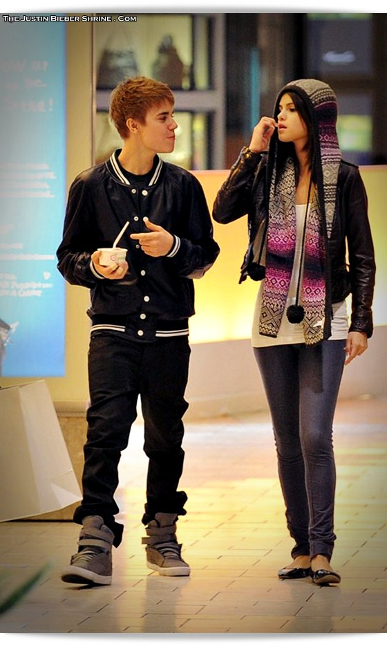 selenagomez justinbieber birthday 2011 05 Justin Bieber spent 17th birthday with Selena Gomez at Beverly Center Mall March 1, 2011 2011