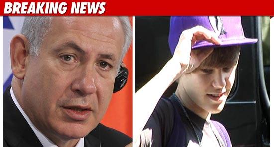 justinbeiber israel netanyahu JB to Israeli Prime Minister Netanyahu: Im Busy 2011