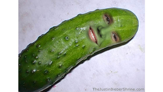 justinbieber funny picture pickle