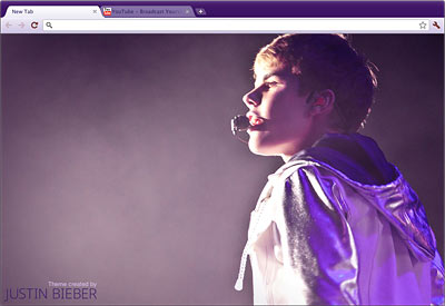 justinbiebergooglechrome Download Justin Bieber theme for Google Chrome 2011