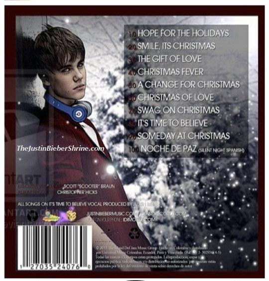 christmas songs list. justin bieber christmas songs track list Justin Bieber Chrismas Album Songs