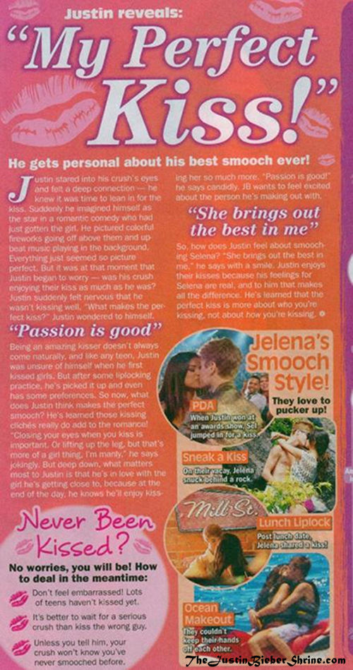 Justin Biebers Perfect Kiss 2011