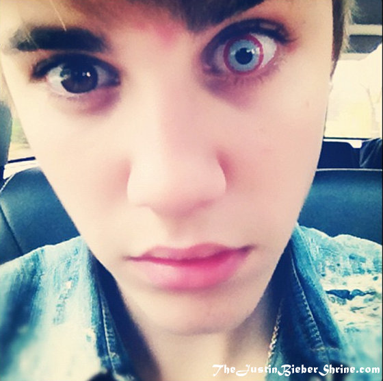 justin bieber scary eyes picture