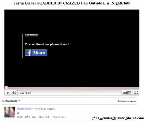 justin bieber scam Justin Bieber stabbed by crazed fan outside LA nightclub!! 2011