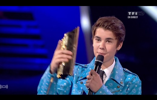 Justin Bieber nrj awards 2012 award of honor