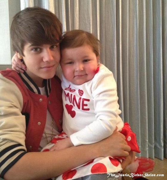 Justin Bieber finally meets his wife, Avalanna Routh 2011