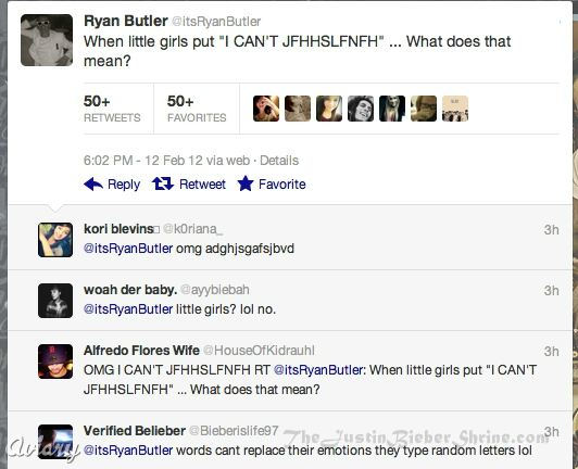 ryanbutler beliebers fighting Ryan Butlers Twitter fight with Justin Bieber fans! 2011