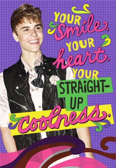 justin bieber greeting cards on sale at walmart, Birthday card