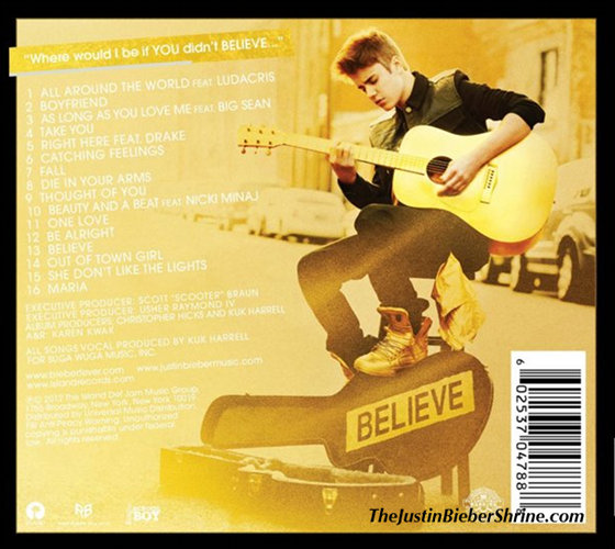 justin bieber believe tracklist