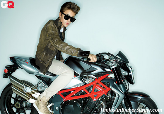 justin bieber gqmagazine motorcycle 2012 Justin Bieber GQ Magazine Photoshoot May 2012 2011