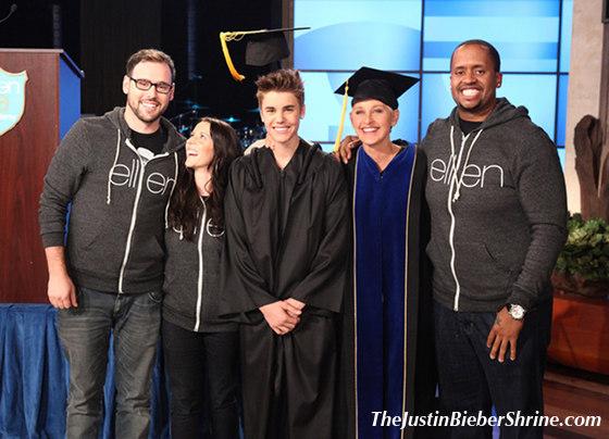 Justin Bieber's Graduation on Ellen Degeneres Show May 23, 2012