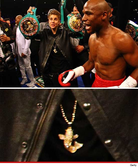 justin bieber necklace gold koi fish mayweather