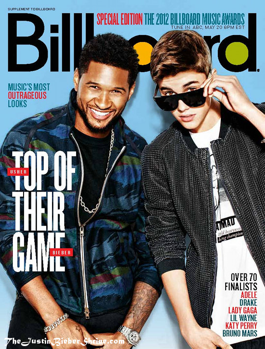 justinbieber usher billboard cover magazine 2012