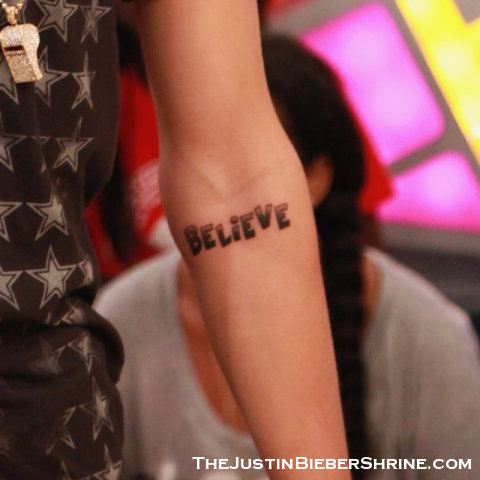 Justin Bieber  on Justin Bieber New Tattoo 2012 Believe Justin Bieber Discusses His New
