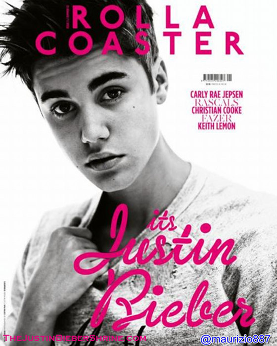 justin bieber rolla coaster magazine cover photoshoot 2012