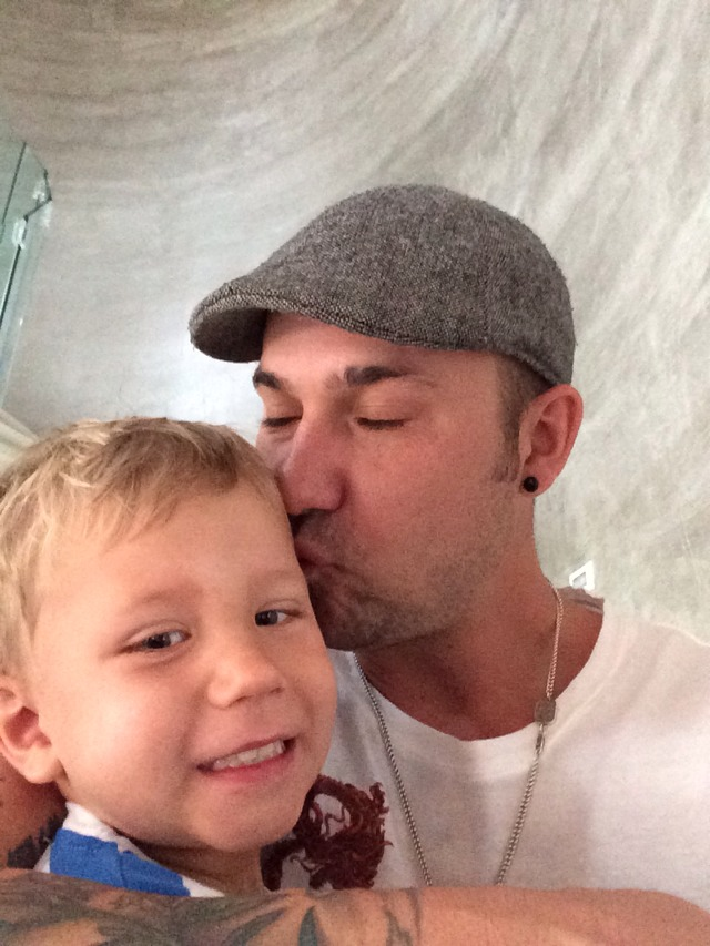 Jeremy Kisses Jaxon Bieber On His Birthday