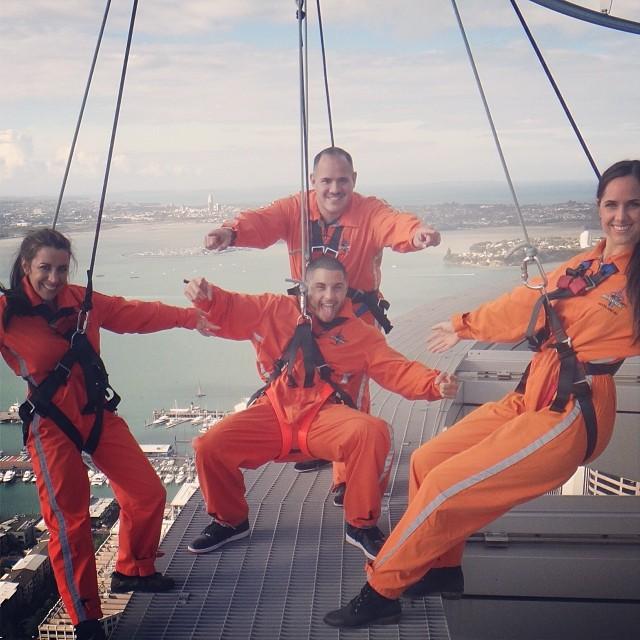 438b69d61e Pattie Mallette jumps off Sky Tower in Auckland, NZ